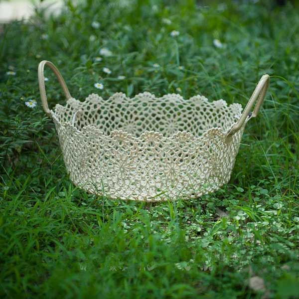 broche lace basket (5) - Baby photography props