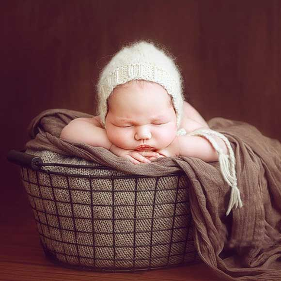 metal basket (16) - Baby photography props