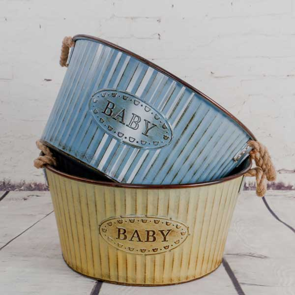 metal basket (26) - Baby photography props