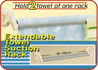 TT5064 adjustable towel suction rack - Bathroom + cleaning Collection