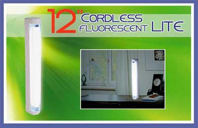 TESL268 cordless 12inch fluorscent lite - Electronic + solar light