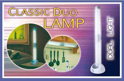 TESL3923 classic duo lamp - Electronic + solar light