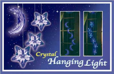 TESL5023 crystal hanging light - Electronic + solar light